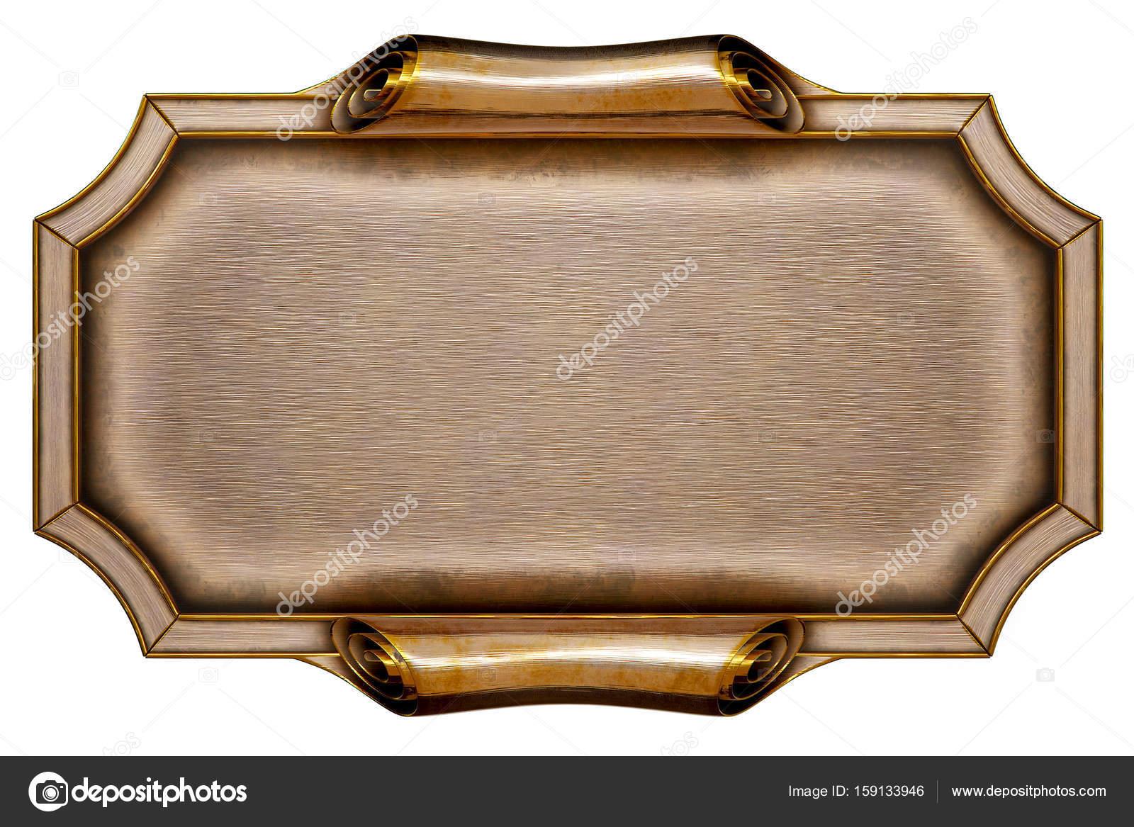 Metall-Plakatwand mit schönen Rahmen — Stockfoto © dimdimich #159133946