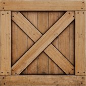 fából készült doboz elszigetelt