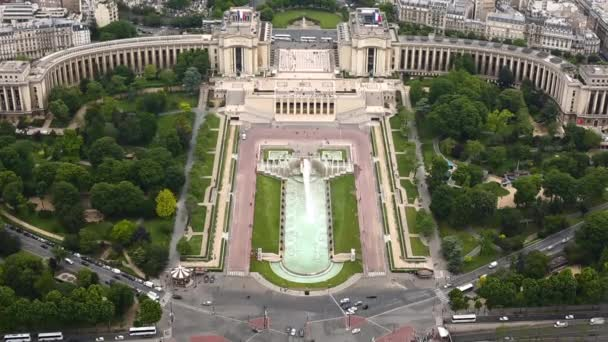 Aerial view of Paris from the Eiffel Tower. France.