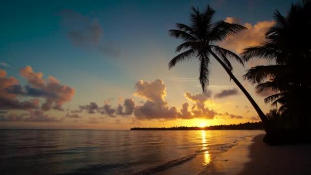 Alba sulla spiaggia dellisola tropicale di Punta Cana, Repubblica Dominicana