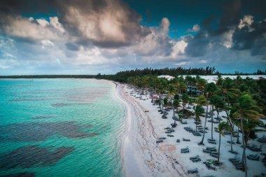 Aerial view of tropical beach, Dominican Republic