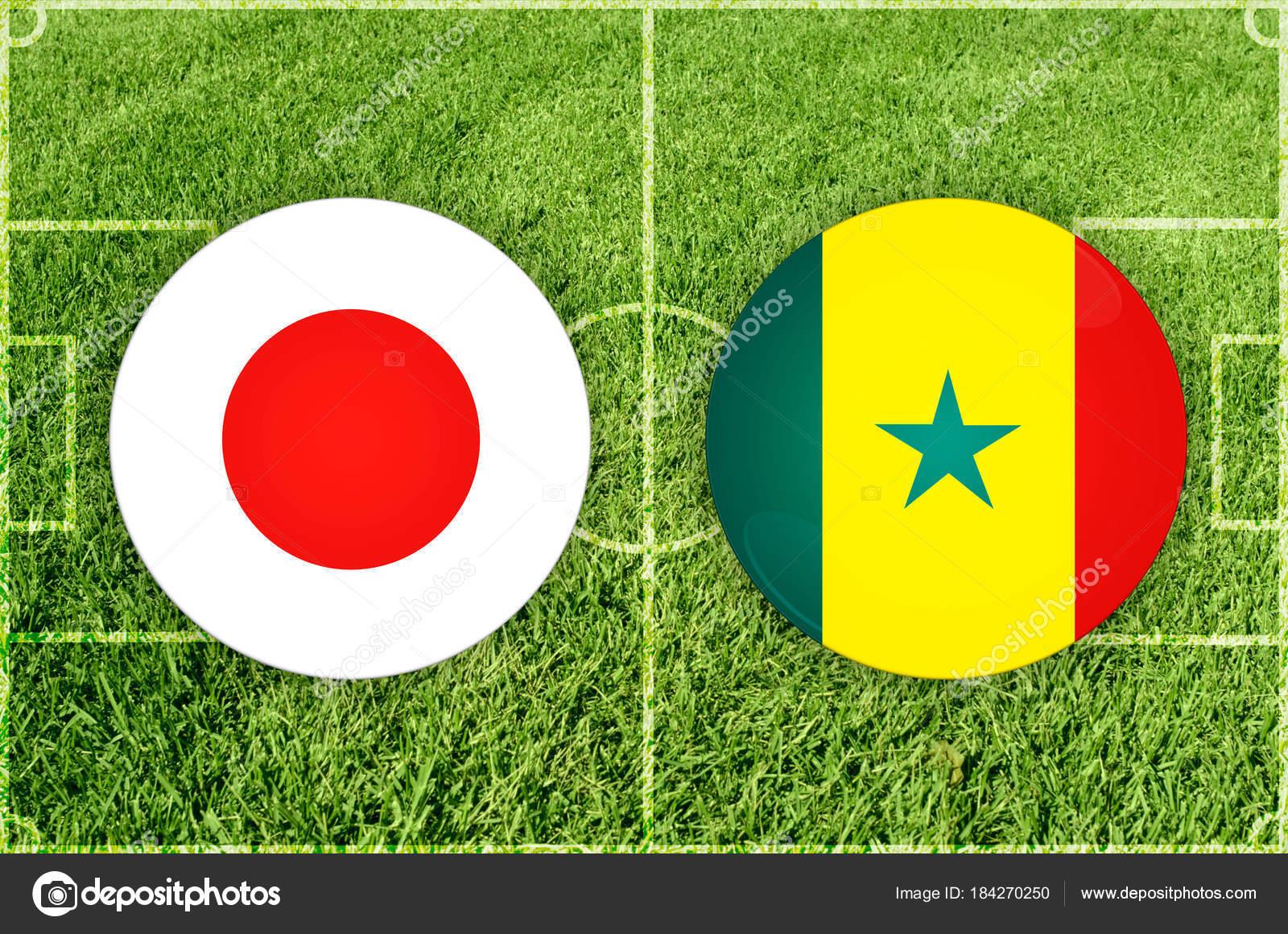 Japan Vs Senegal Football Match Stock Photo
