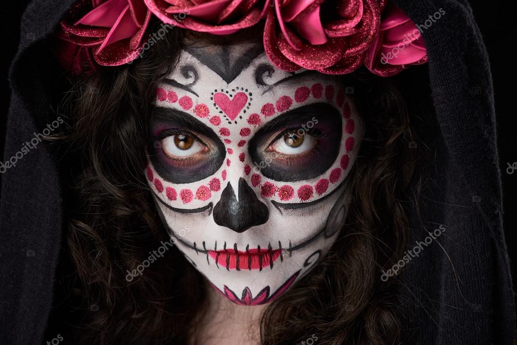 primer plano de maquillaje de calavera — Fotos de Stock © dimarik ... 32d72ded3c1