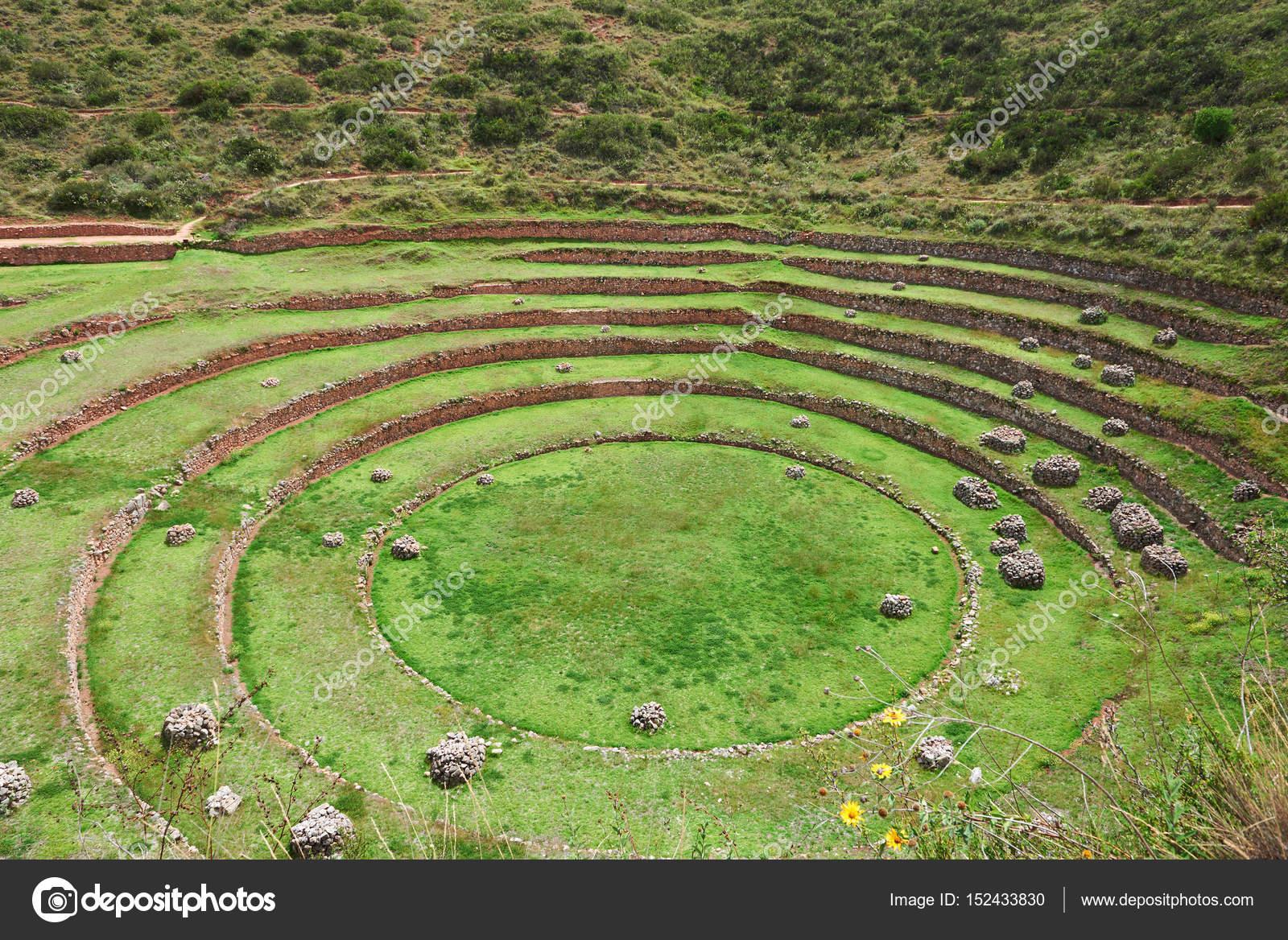 Andenes Terrazas Incas Terrazas De Circular Inca Redondo