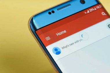 Google plus application menu