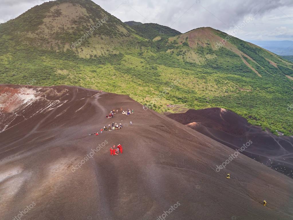 Volcano sliding tour in Nicaragua