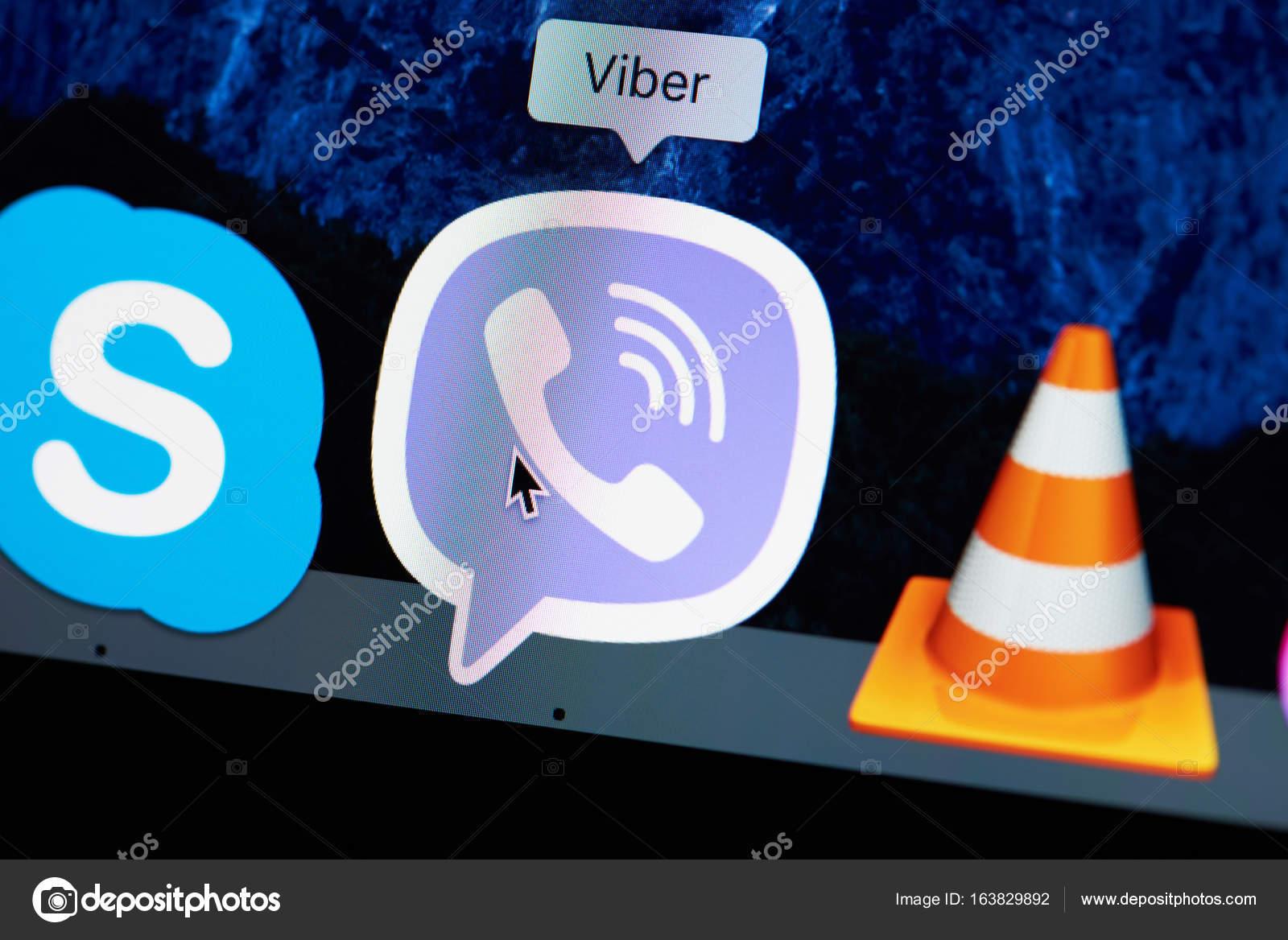 Ikona Aplikace Viber Stock Editorial Foto Dimarik 163829892