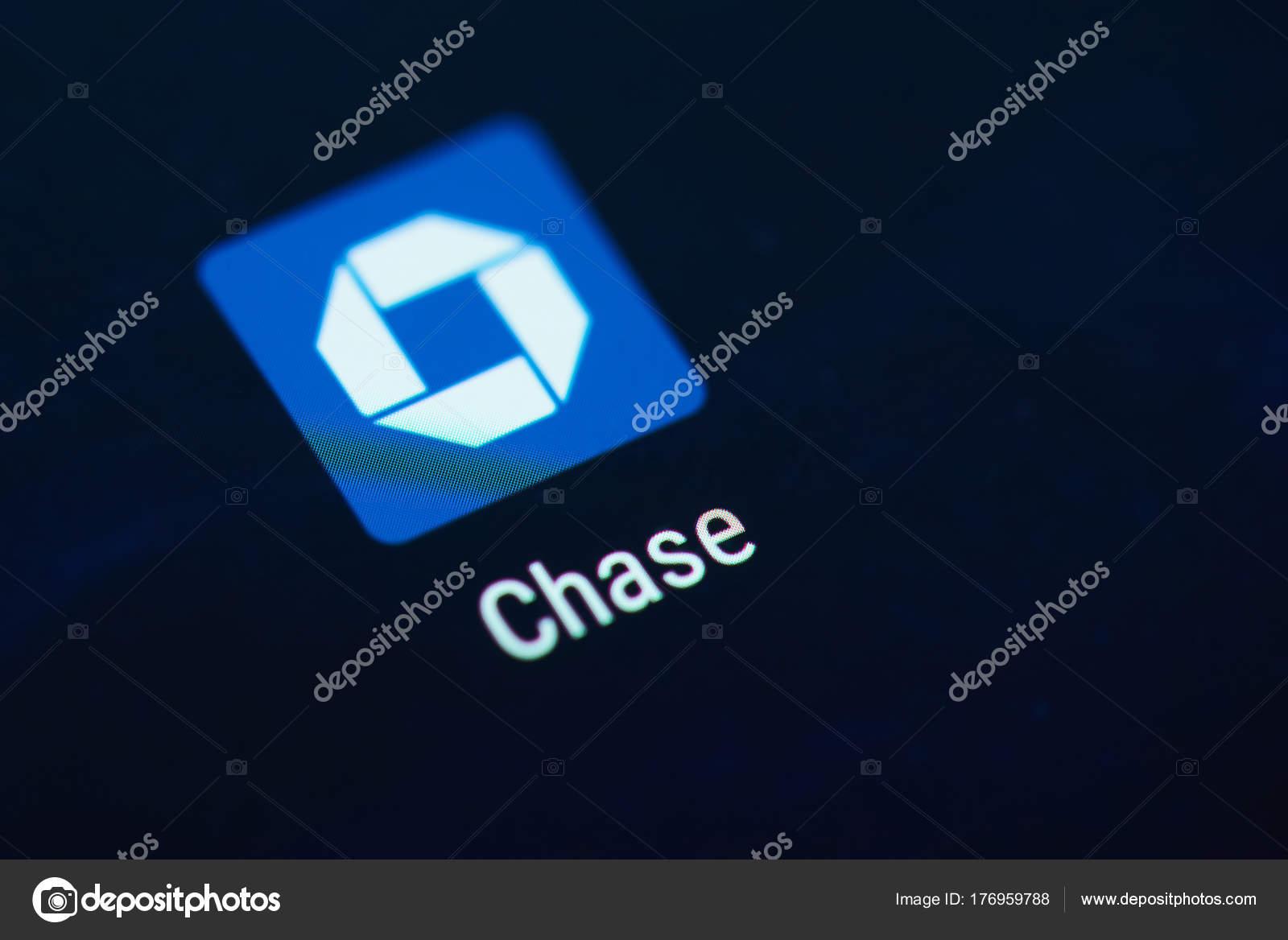 Icono De La Aplicacin De Chase Bank Foto Editorial De Stock