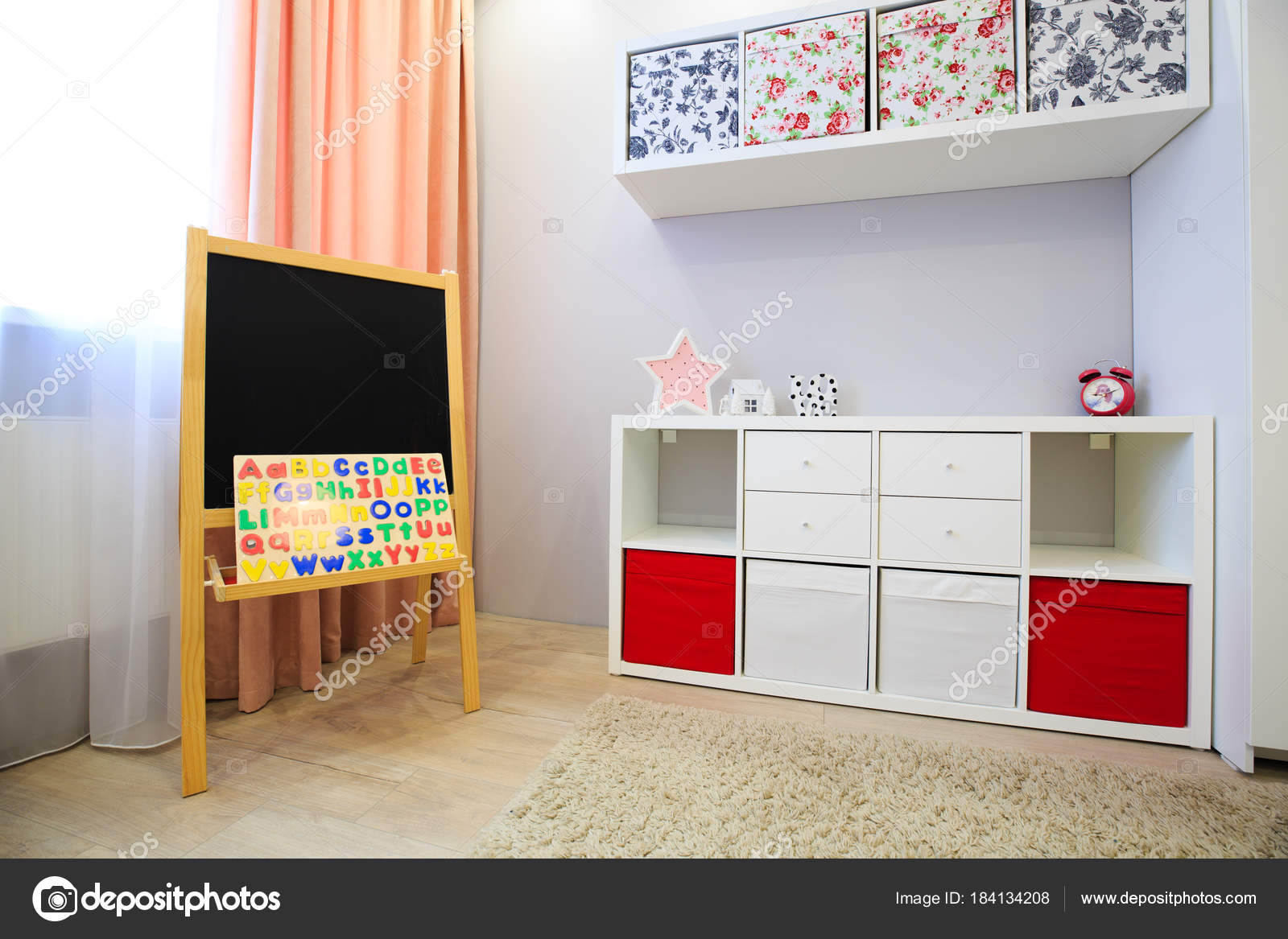 interieur van de kinderkamer — Stockfoto © dimarik #184134208