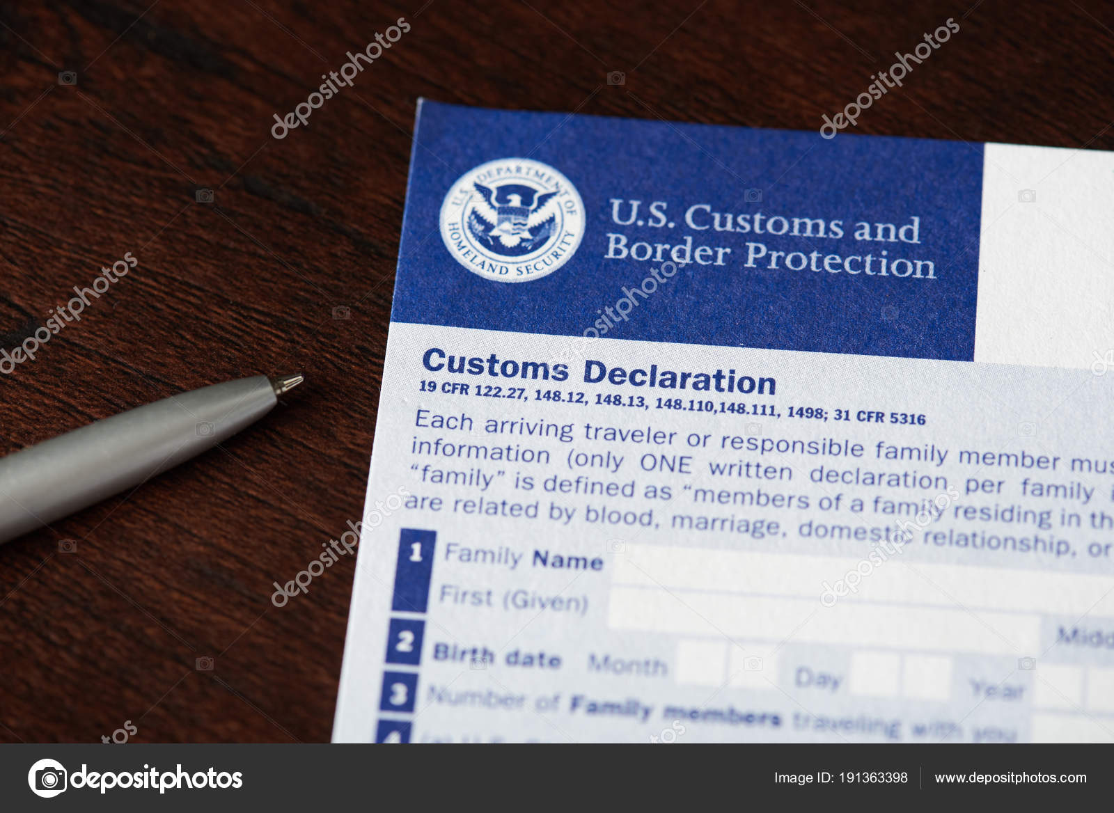 Customs declaration form for traveller stock editorial photo customs declaration form for traveller stock photo thecheapjerseys Choice Image