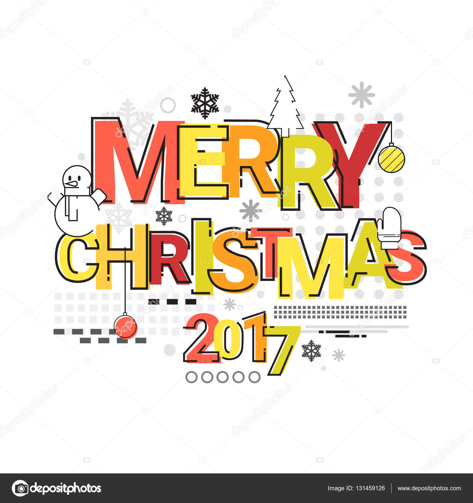 merry christmas happy new year simple line sketch banner card outline stock vector