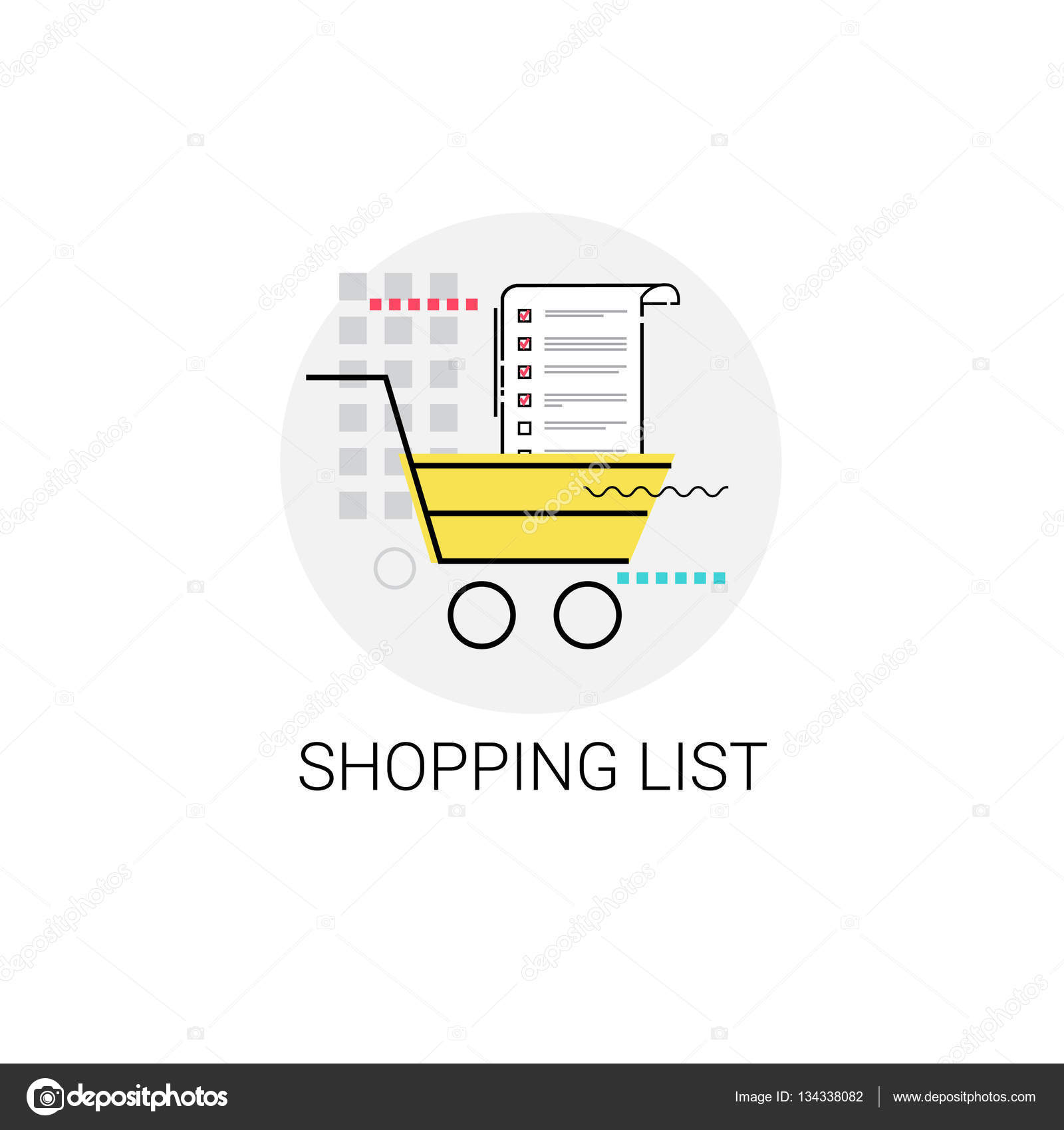 cart online shopping list icon vector illustration vector by mast3r