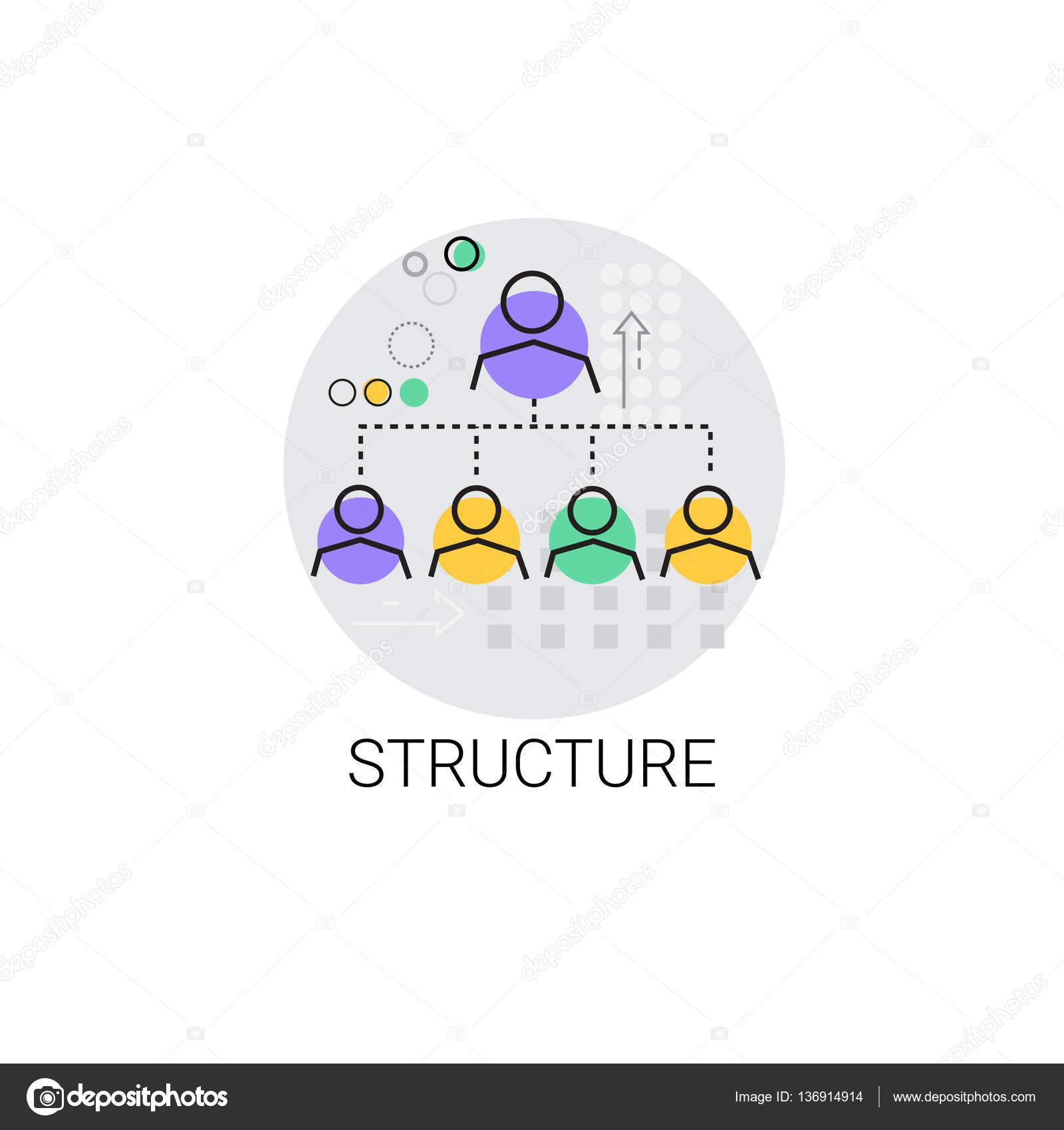 Icono Equipo Empresa Estructura Gestión De Organización