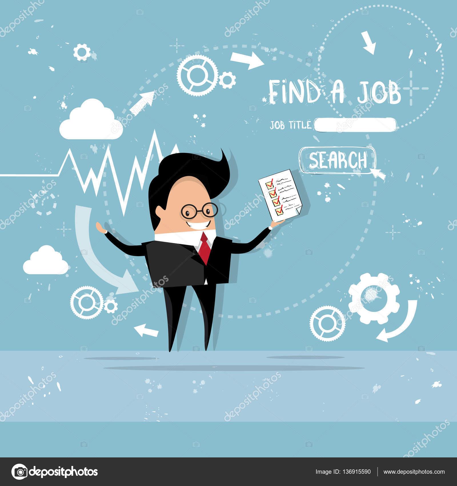 Hombre de negocios contratación Curriculum Vitae candidato de puesto ...
