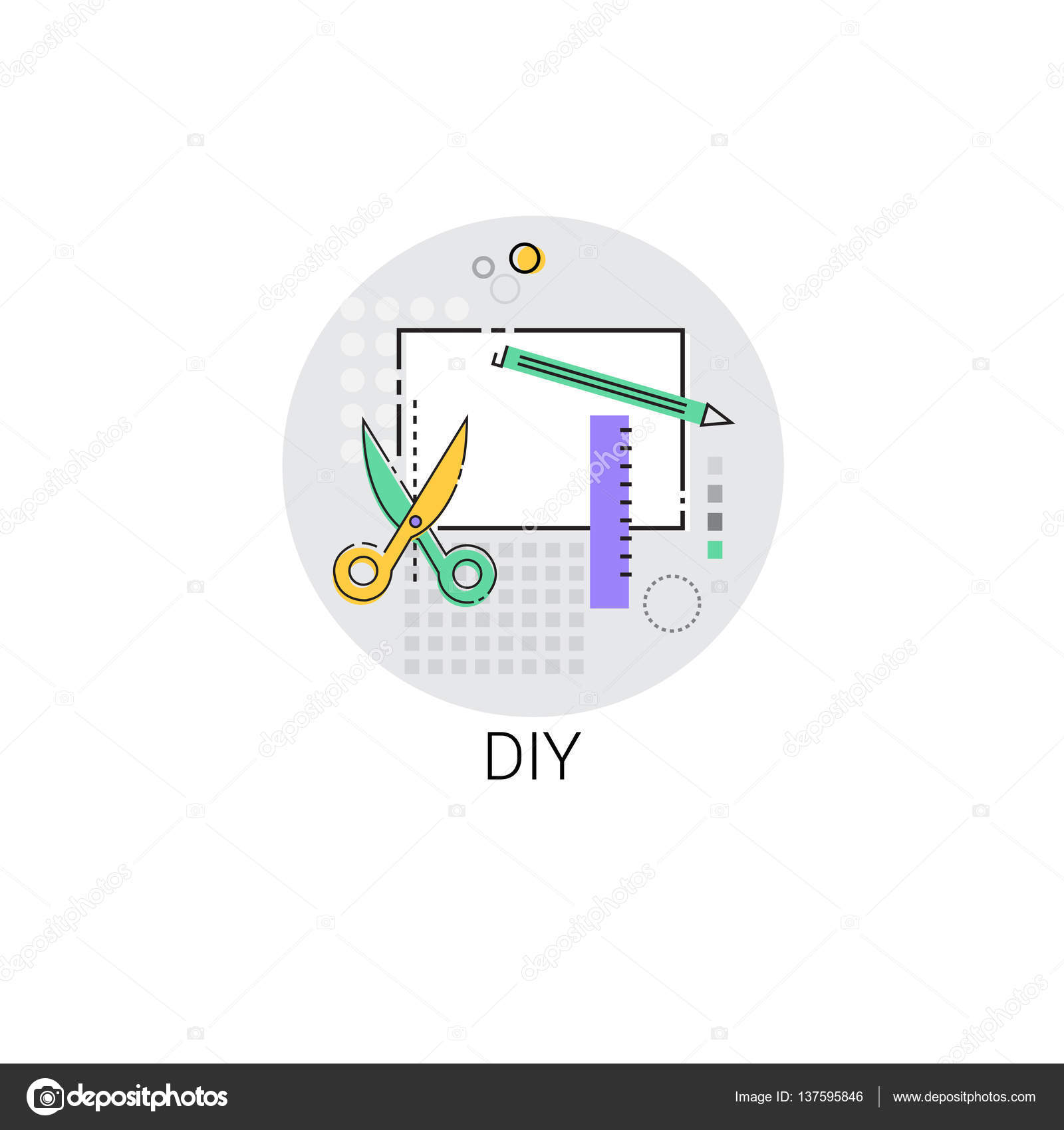 Diy Haus Renovierung Werkzeug Symbol Stockvektor C Mast3r 137595846