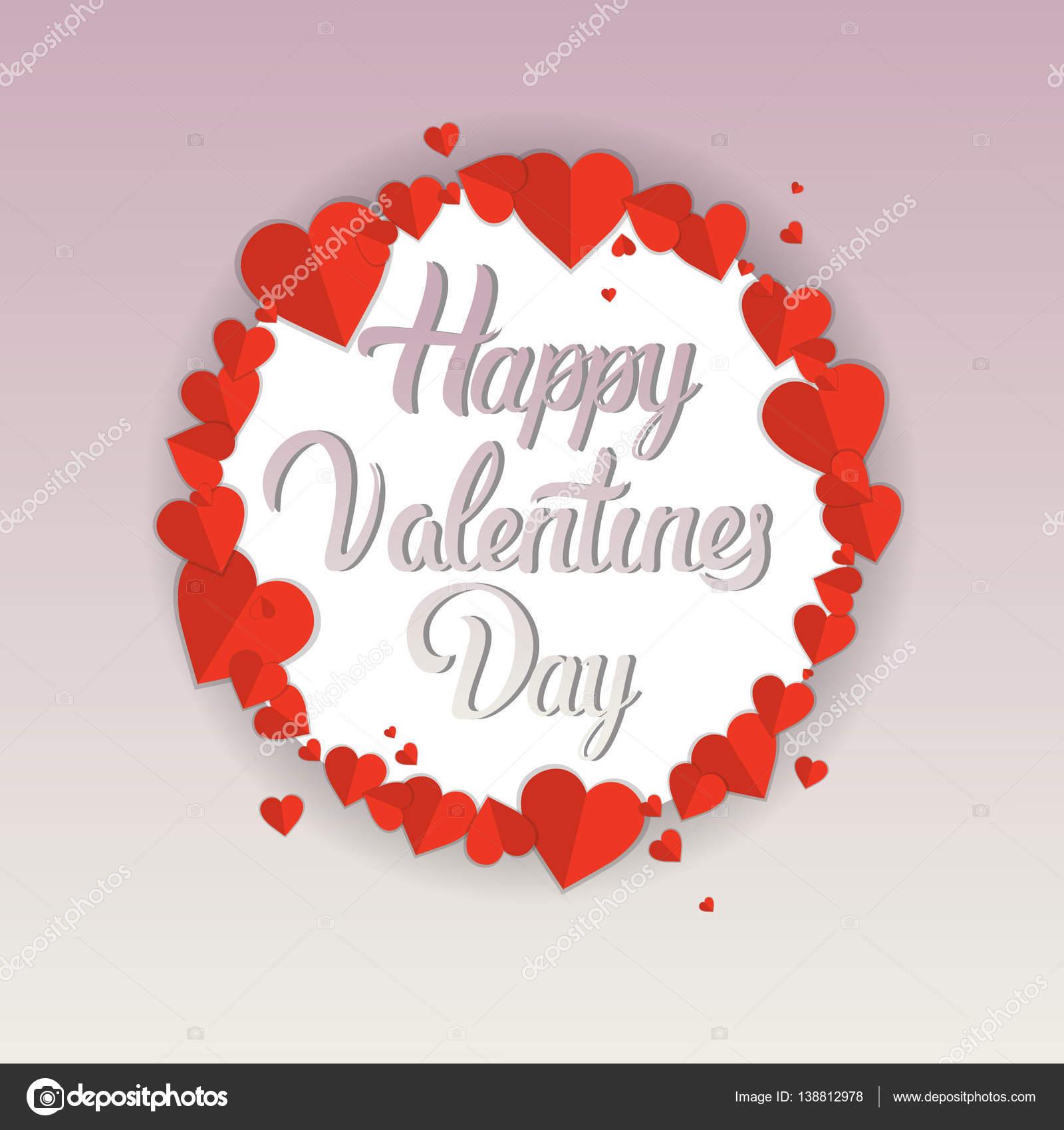 Valentine Day Gift Card Holiday Love Herzform Stockvektor Mast3r