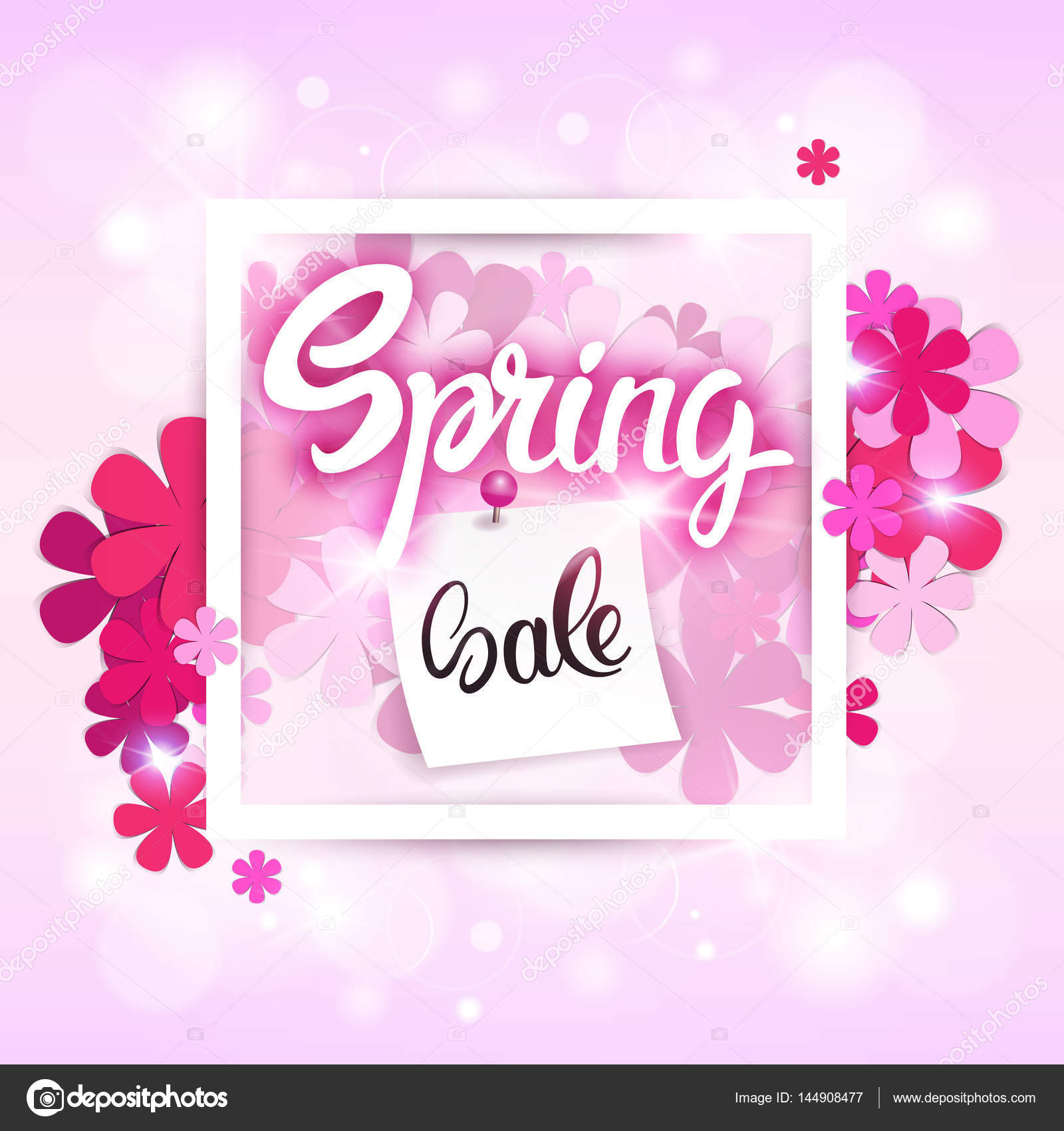 52f8a2789a2 Spring Sale Shopping Special Offer Holiday Banner — Stock Vector ...