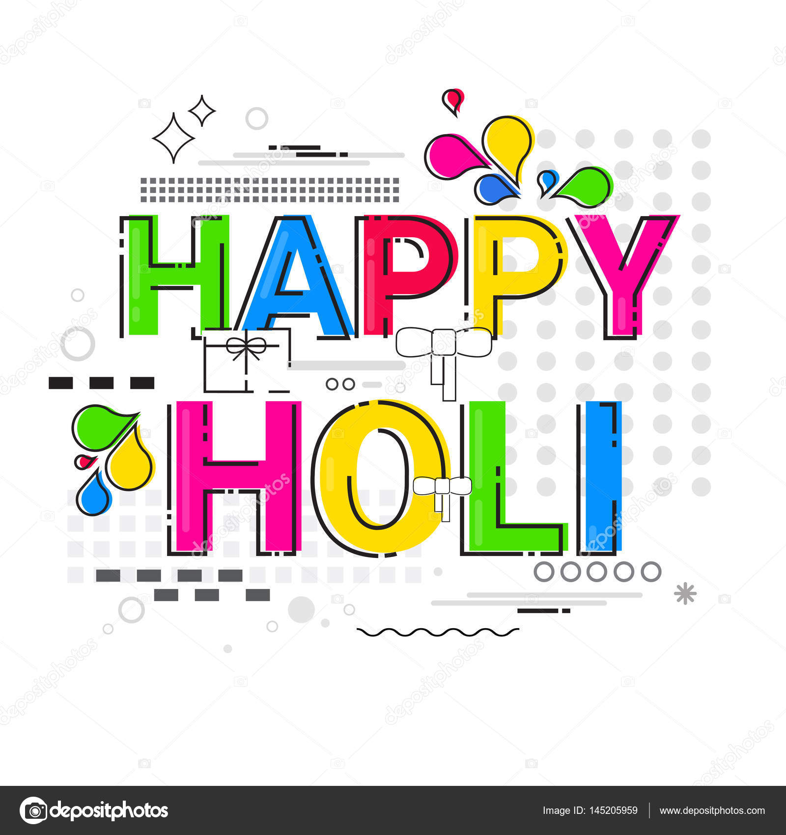 Happy holi religious india holiday traditional celebration greeting happy holi religious india holiday traditional celebration greeting card stock vector m4hsunfo