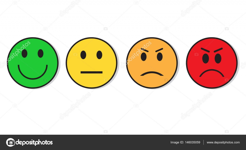 Depositphotos Stock Illustration Smiling Evaluation Positive And Emoticon Faces Happy Sad