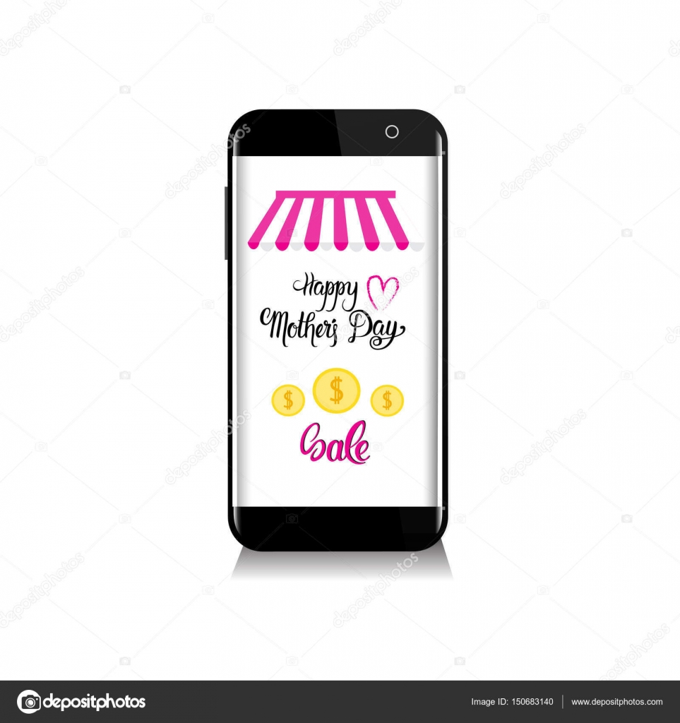 Online Shopping Sale Happy Mother Day Discount Spring Holiday