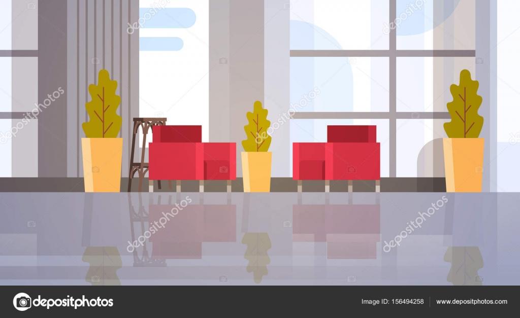 Moderne Bürogebäude Halle Waiting Room Interior — Stockvektor ...