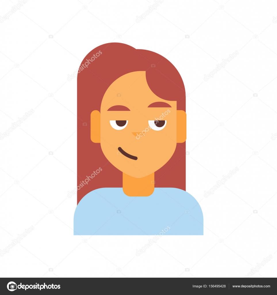 profile icon female emotion avatar woman cartoon portrait happy