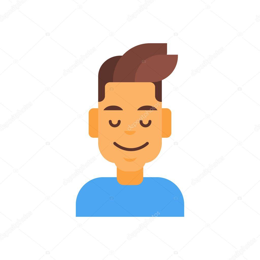 Profil-Symbol männlichen Emotion Avatar, Mann Cartoon