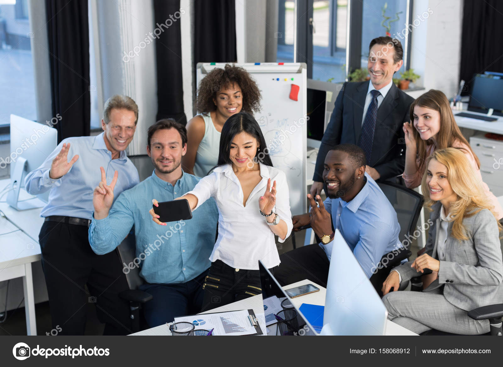 Businessmen Group Working Together In Creative Office Team