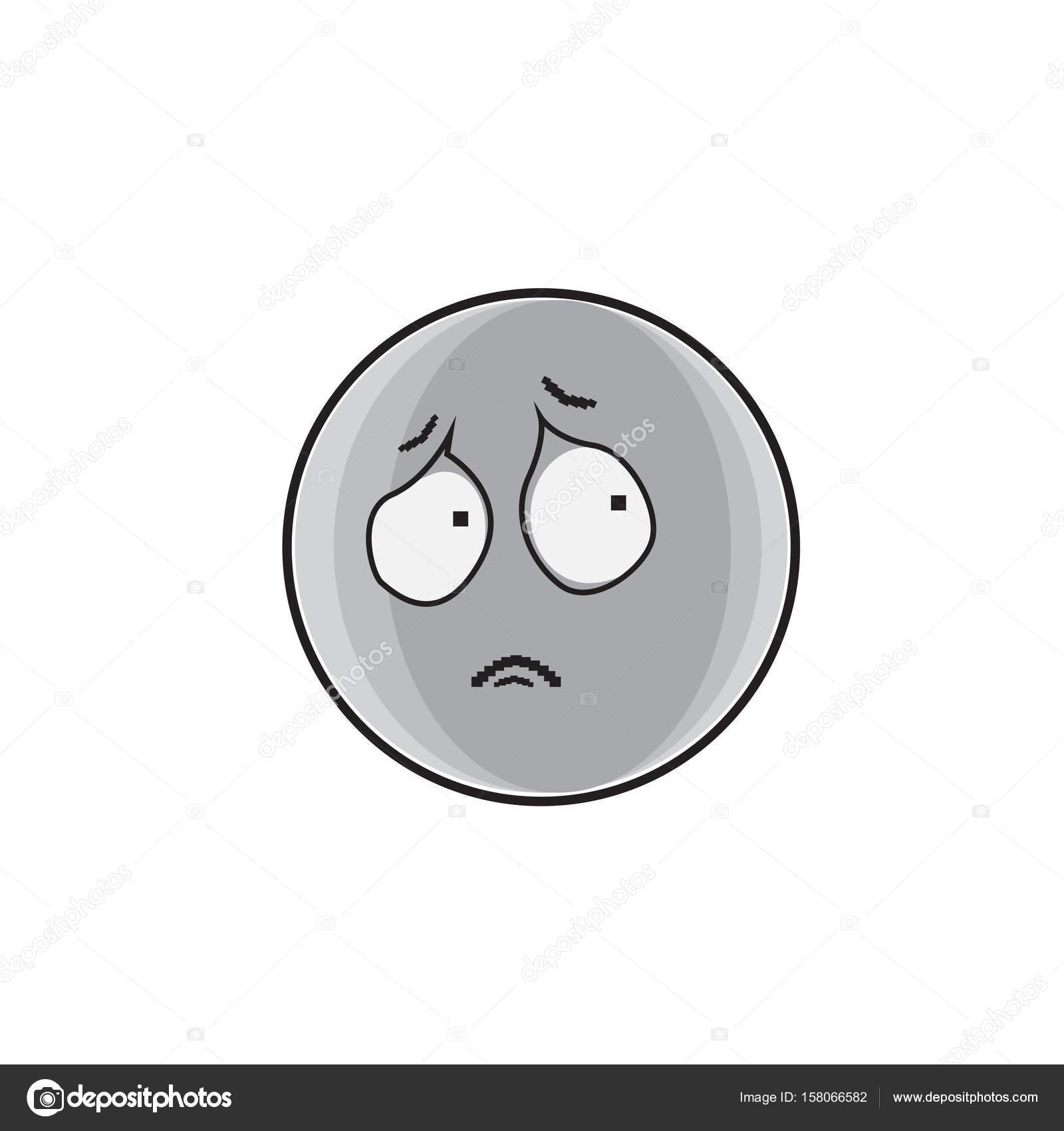 Desenhos Animados Triste Rosto Expressão Pessoas Emoticon