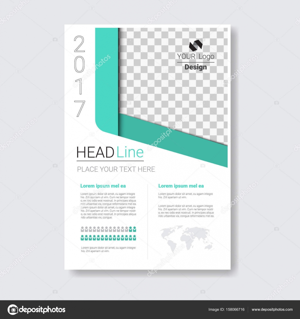 Template Design Brochure Annual Report Magazine Poster Corporate Presentation Portfolio Flyer With Copy Space Vector Illustration By Mast3r