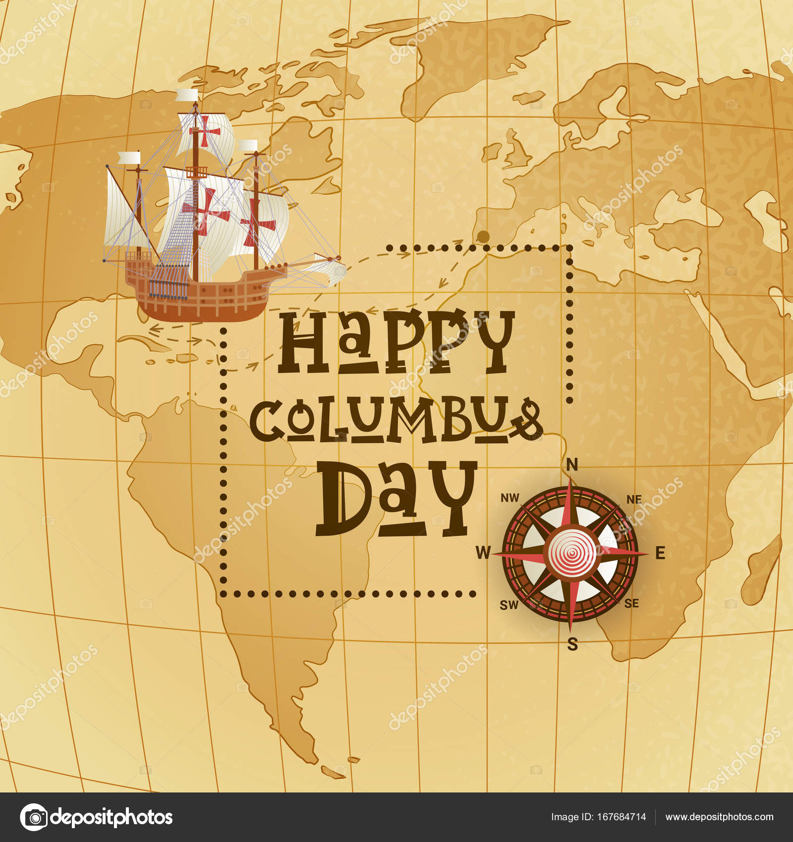 Happy Columbus Day National Usa Holiday Greeting Card With ... on vibrant world map, kawaii world map, survival world map, fake world map, titanium world map, thank you world map, america's world map, nameless world map, distressed world map, scary world map, neutral tone world map, bunny world map, doodle world map, umbrella world map, silly world map, sick world map, evil world map, wealthy world map, spooky world map,