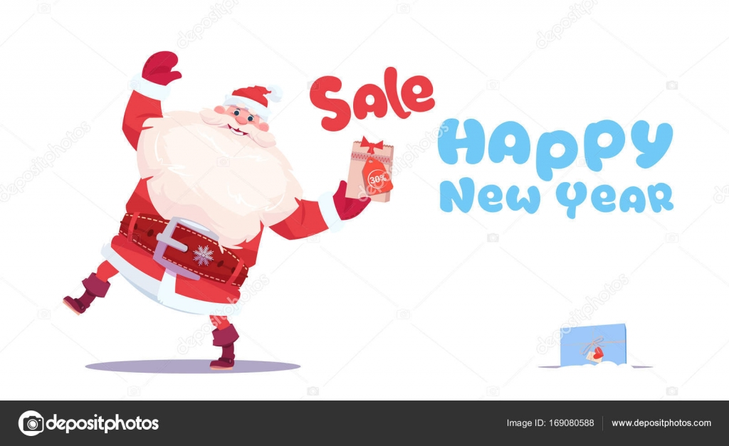 new year sale banner holiday discounts promotion label christmas shopping concept stock vector