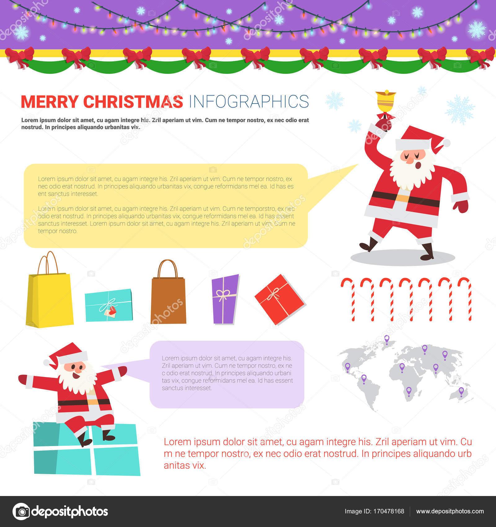 Buon Natale Del C Testo.Insieme Di Elementi Di Infographic Di Buon Natale Modelli Con