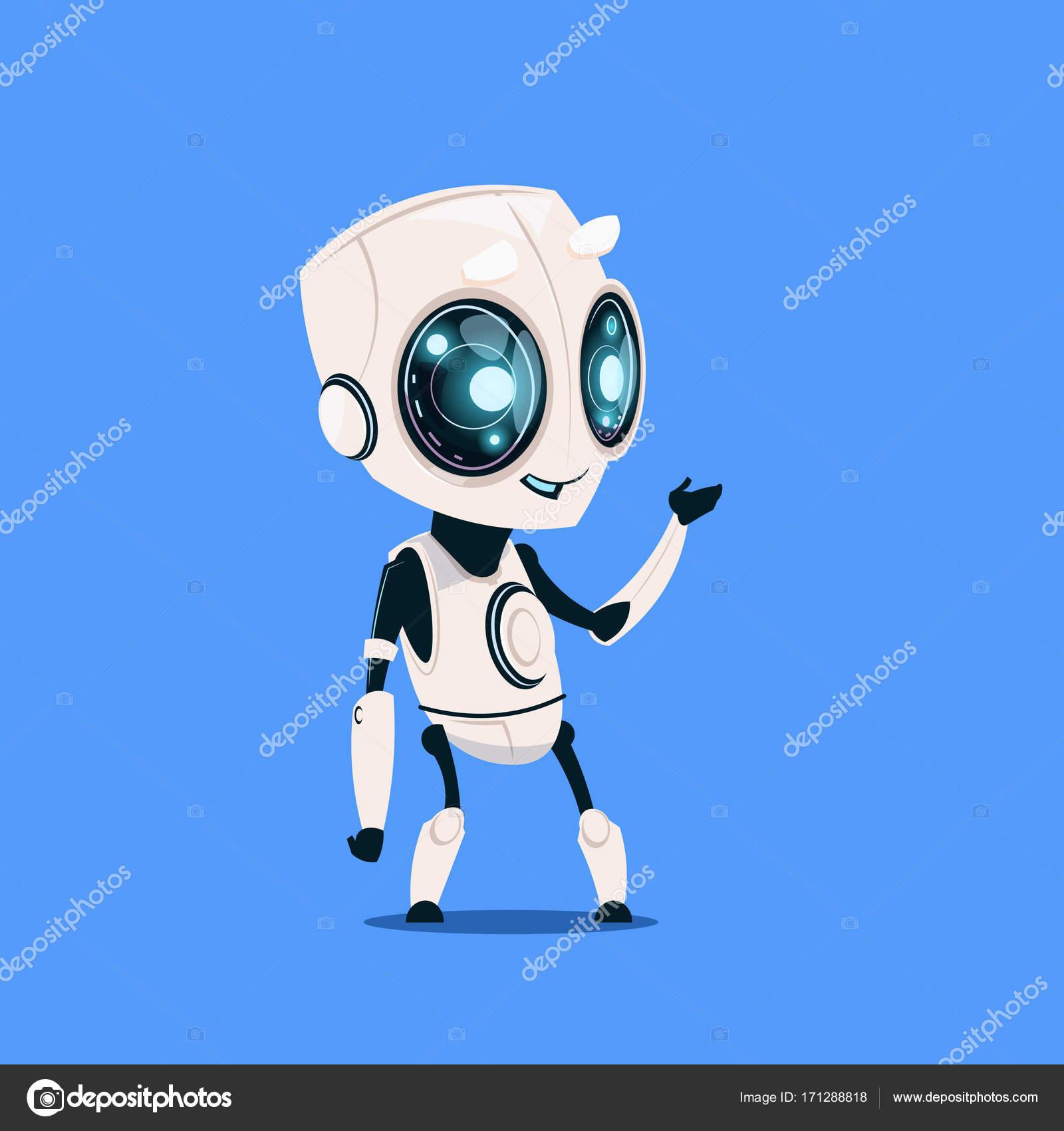 Robot moderno isolato il concetto di intelligenza