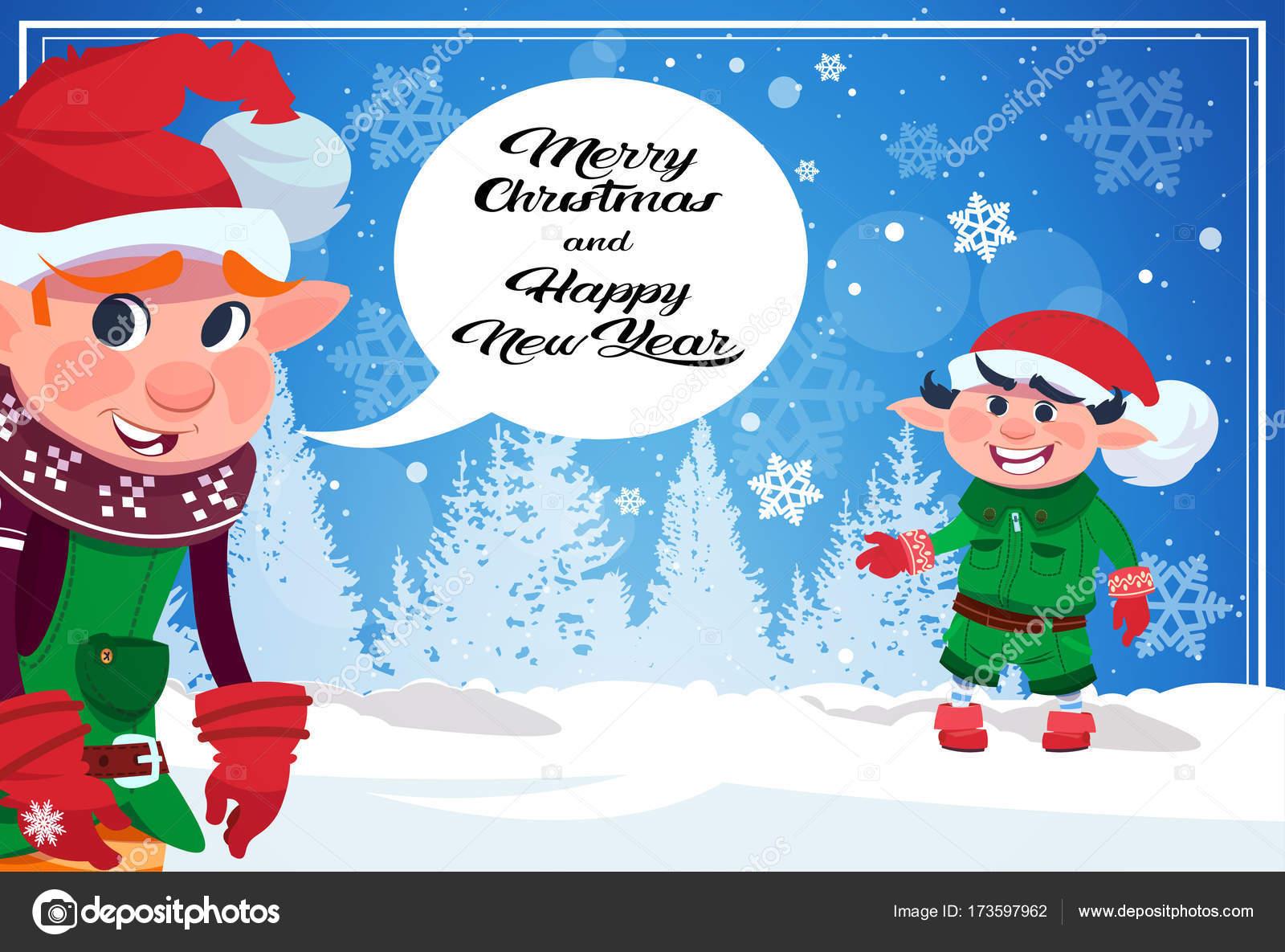 Immagini Carine Per Natale.Carine Folletti Nella Foresta Di Inverno Buon Natale E