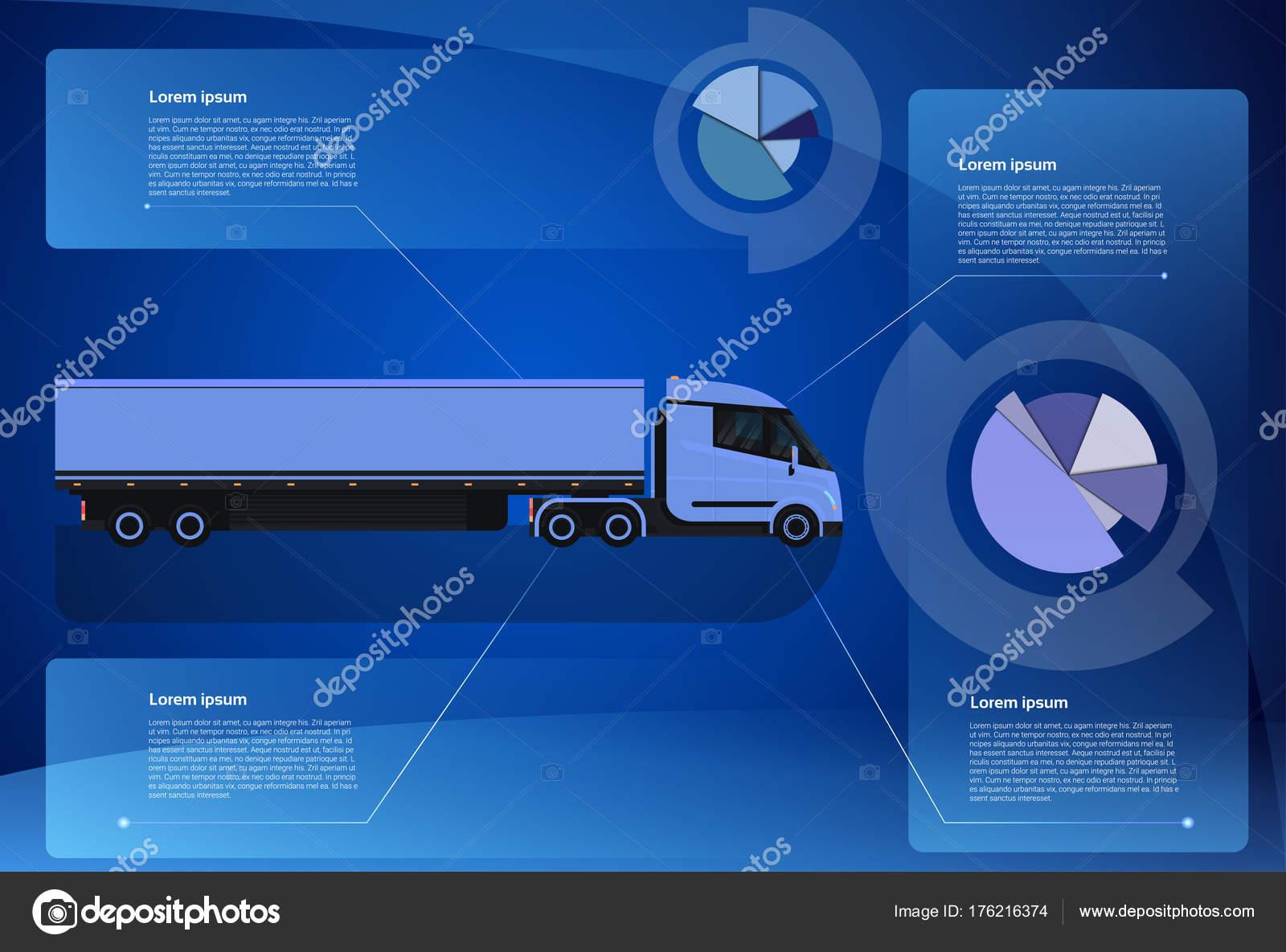 depositphotos_176216374 stock illustration infographic banner cargo truck trailer infographic banner cargo truck trailer vehicle over world map