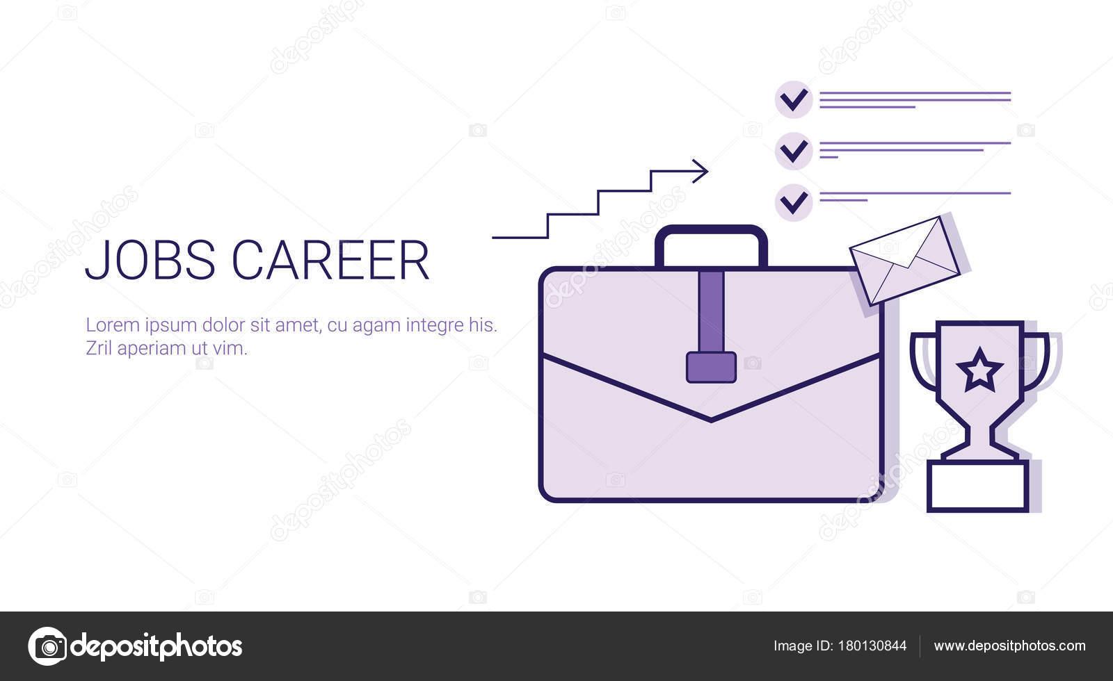 Trabajo carrera desarrollo Personal empresarial concepto Web Banner ...