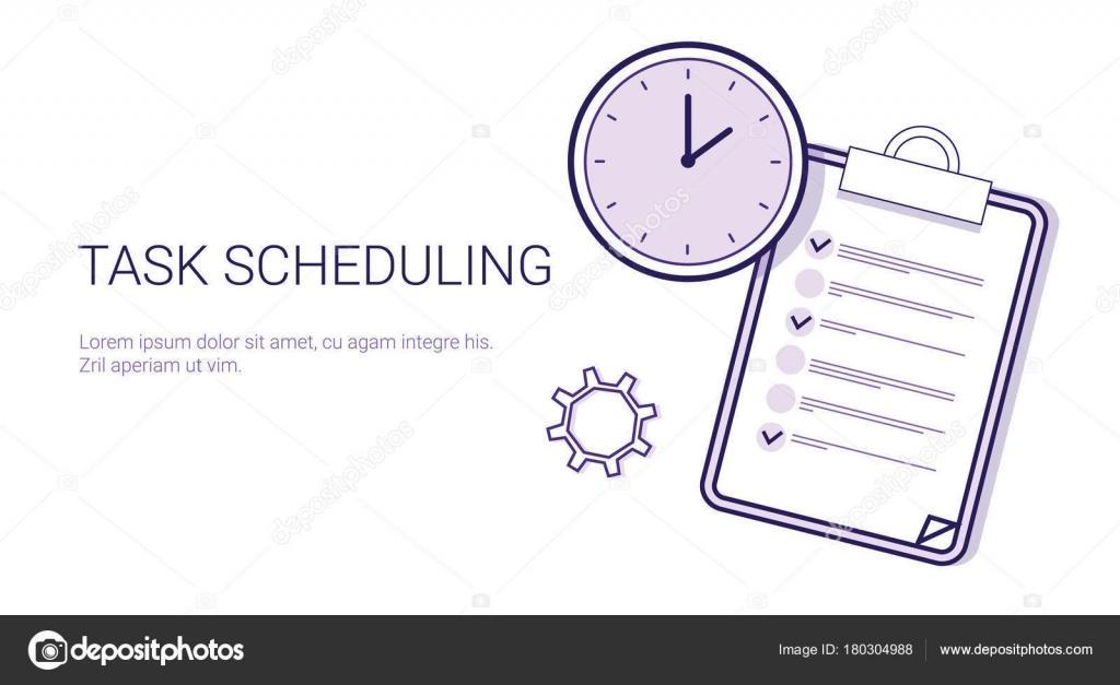 Tarea programación eficaz planificación concepto tiempo gestión ...