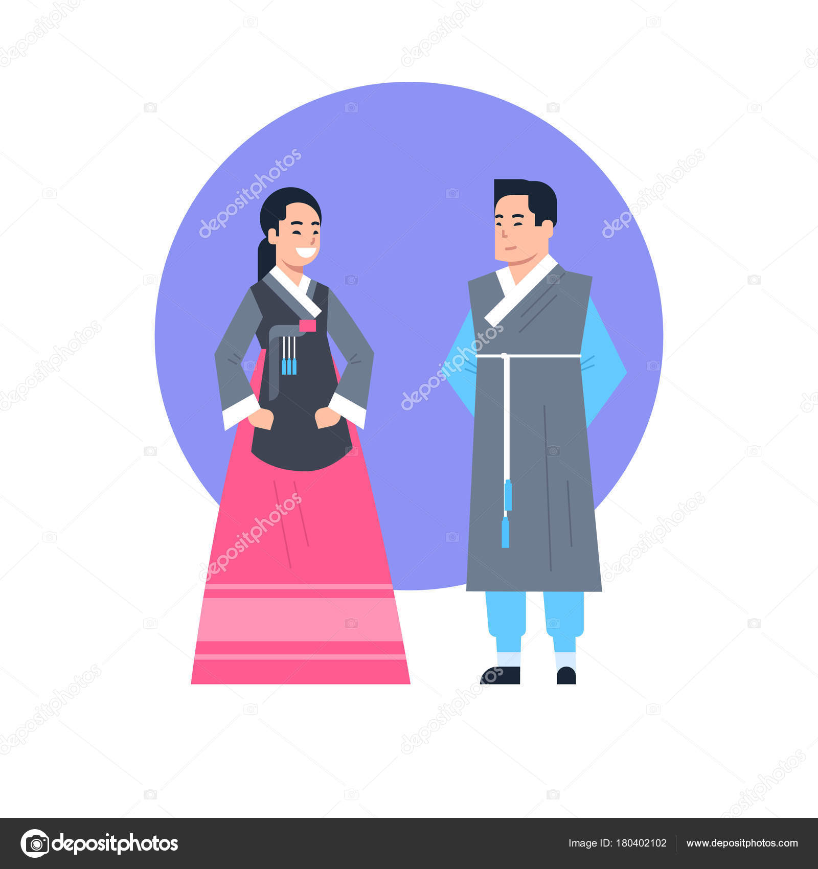 古代衣装を着て韓国伝統服アジア カップル分離アジアのドレス