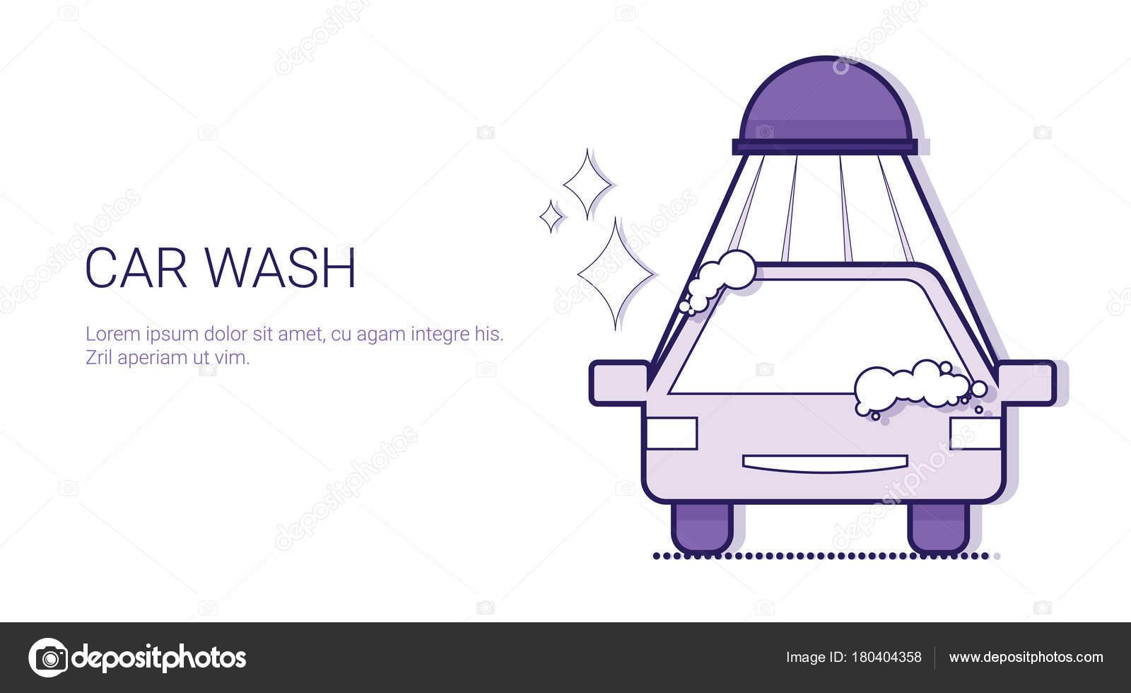 Lavado de coches servicio reparación mecánica concepto plantilla ...