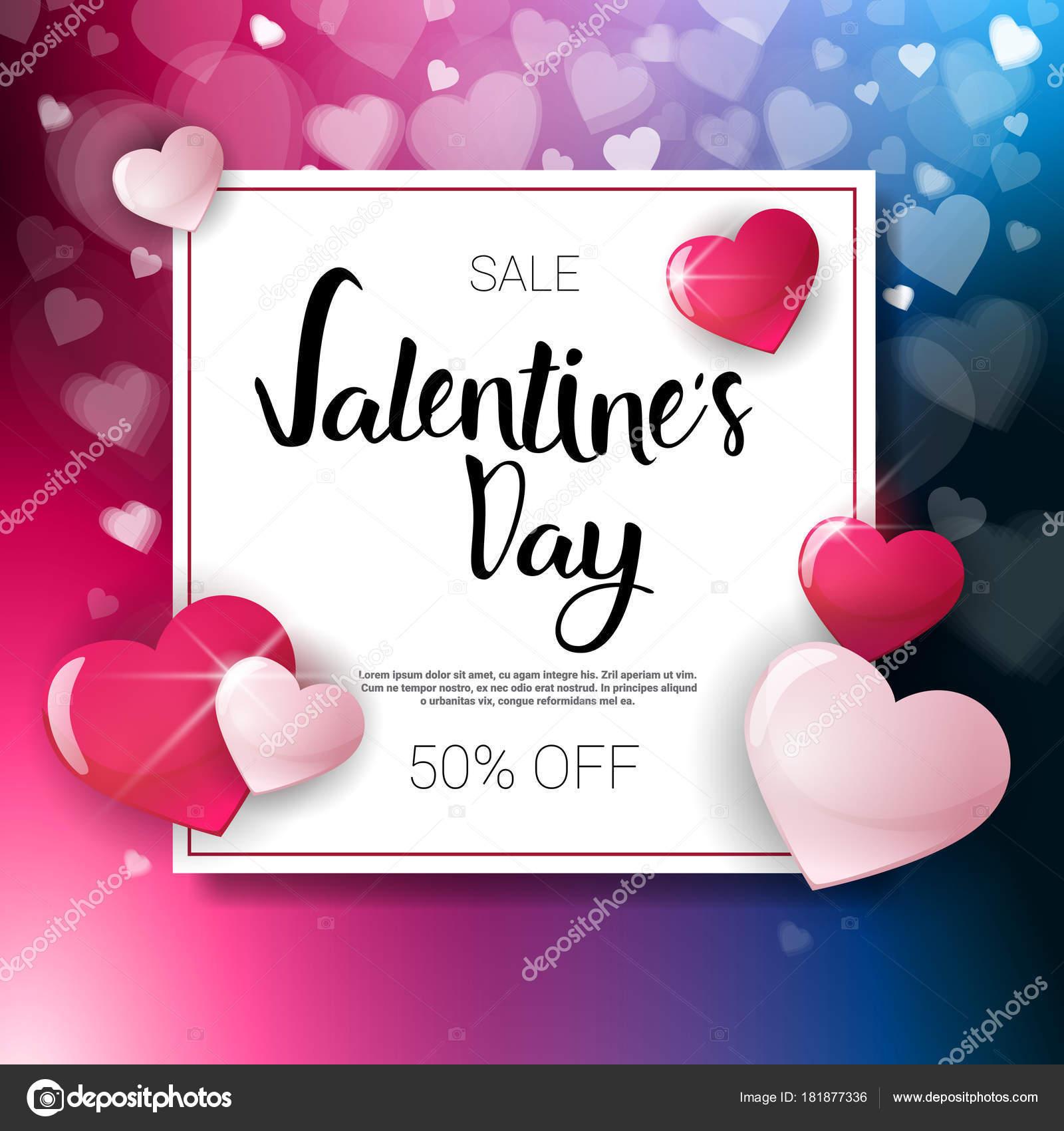 Valentine Tag Verkauf Flyer Vorlage mit Kopie Raumkonzept Urlaub ...
