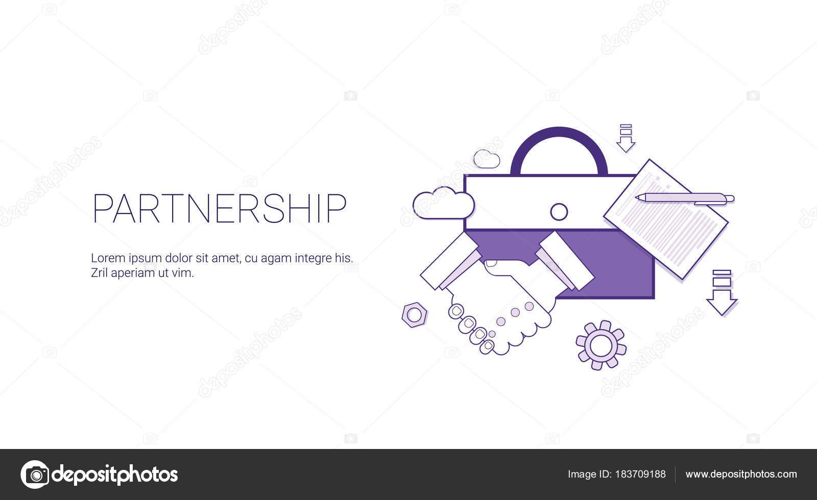 Asociación Empresarial cooperación Web Banner plantilla con copia ...