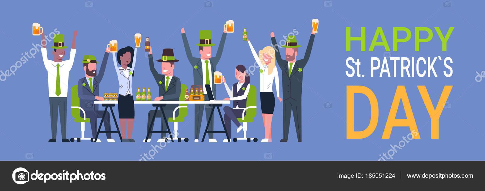 Irish Pub oder Bar am St. Patricks Day Urlaub mit Menschen tragen ...
