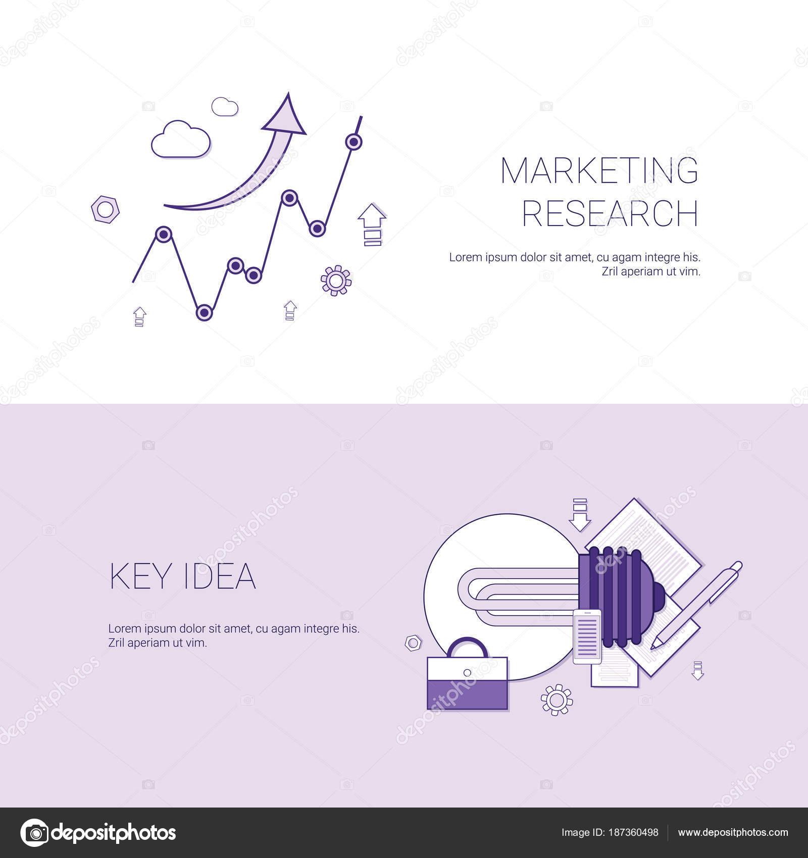 Investigación de mercado y la Idea clave plantilla Web Banner con ...