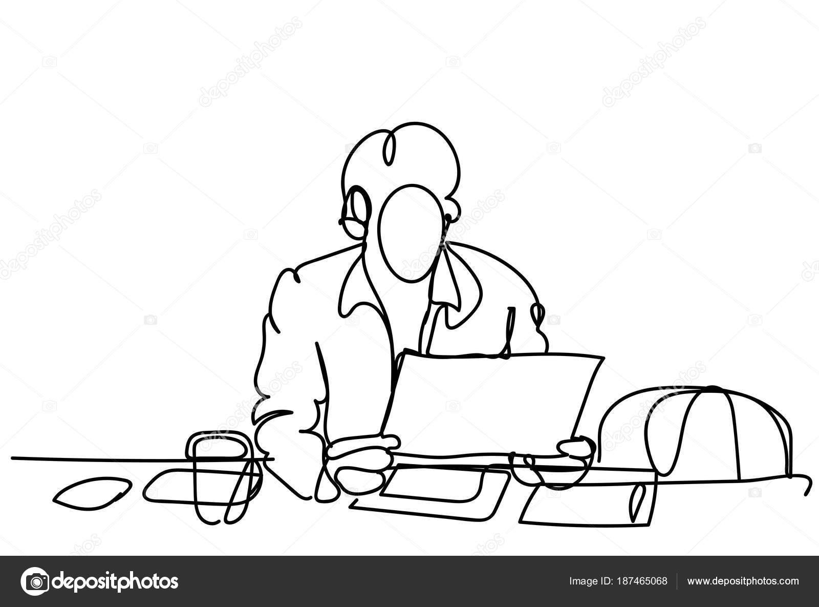 Dibujos Figura De Hombre Trabajando Doodle De Hombre De Negocios