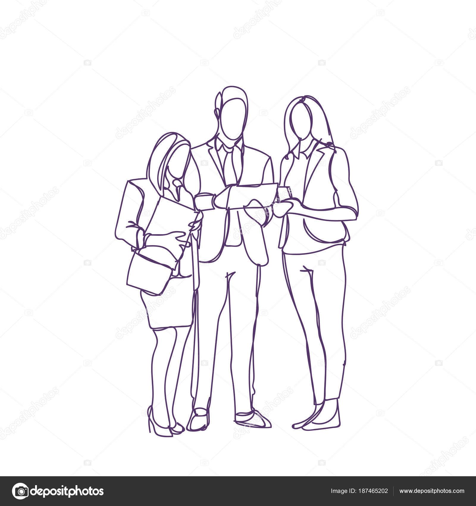 Dibujos Personas En Reunion Para Colorear Grupo De Personas De