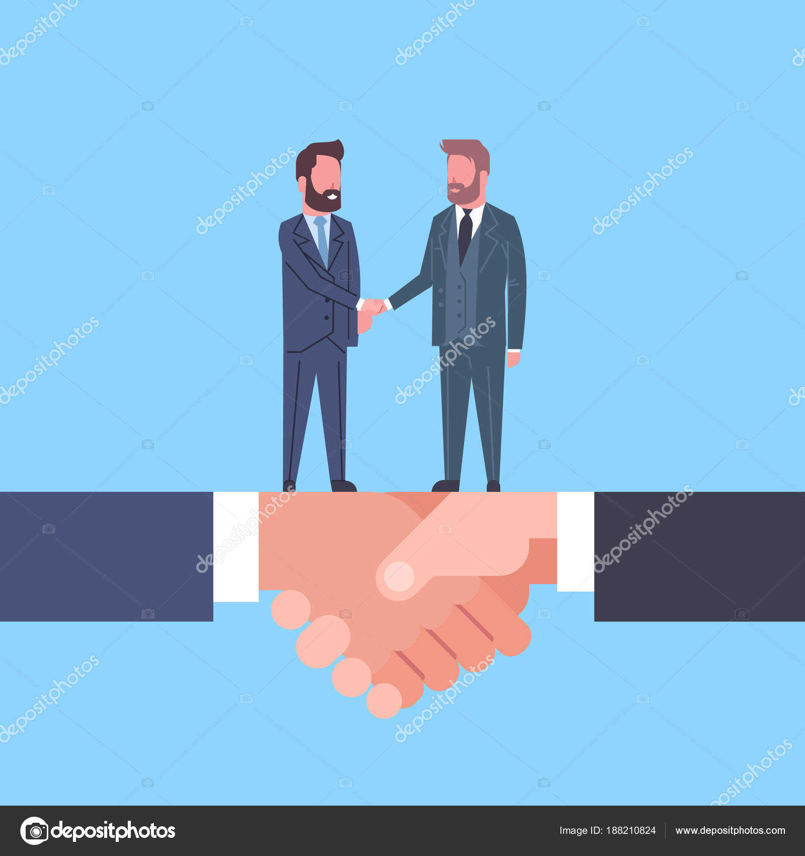 Zwei Geschäftsleute Händeschütteln auf Handschlag ...