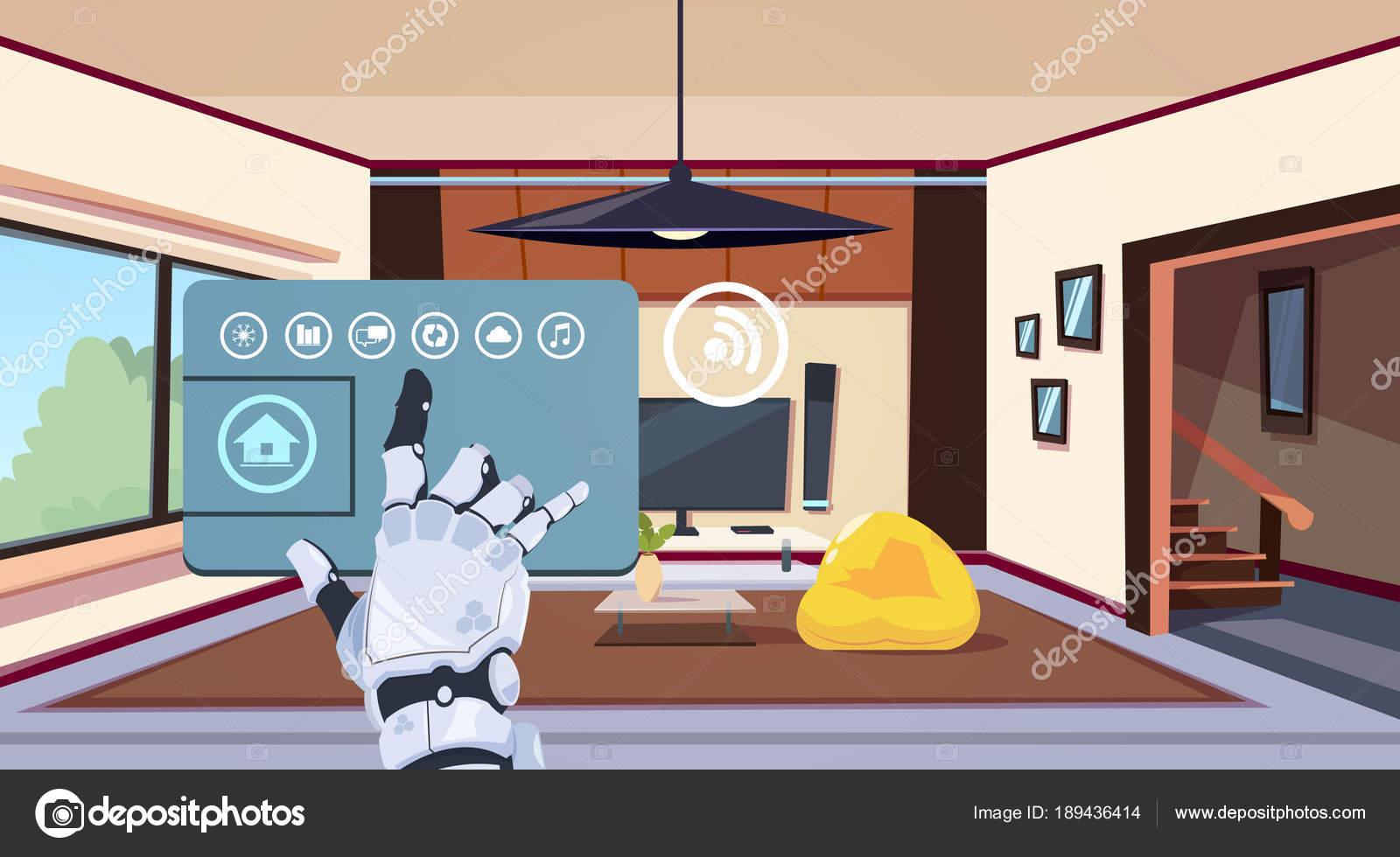 Mano robotica utilizzando Smart Home App del sistema di controllo ...