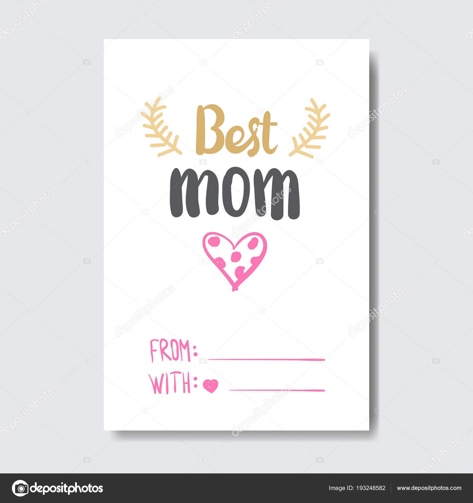 Beste Mama Kartenvorlage für glückliche Mutter Tag mit netten ...