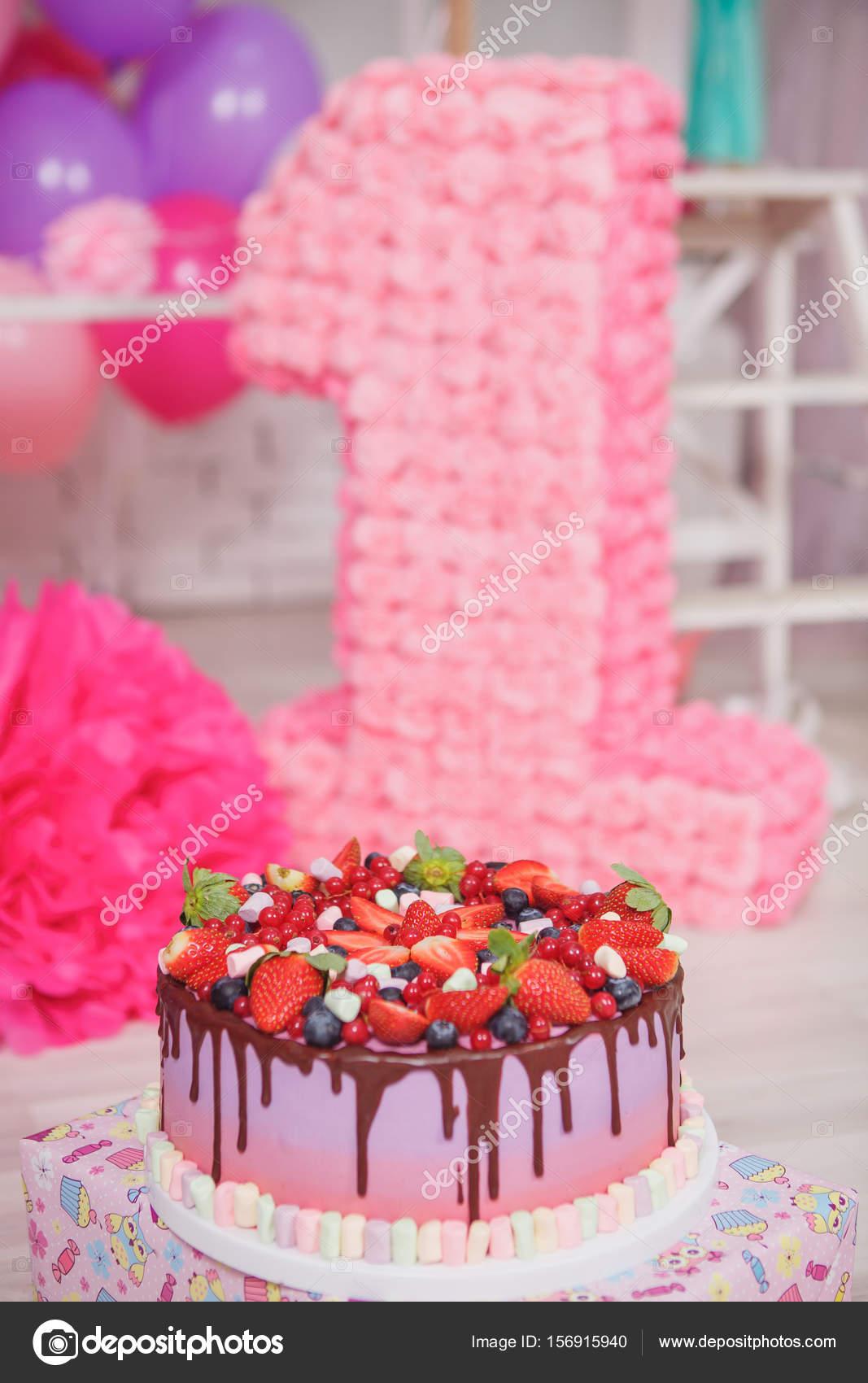 Obst Kuchen Geburtstag Party Dekoration Stockfoto C Cs 333 156915940